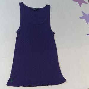 Ralph Lauren purple tank top Pima cotton